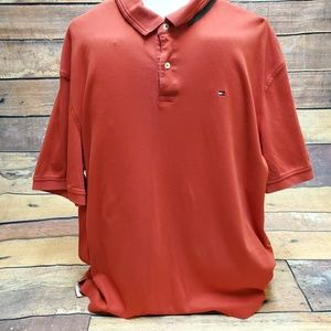 Men's Tommy Hilfiger Red Polo Shirt Size XXL